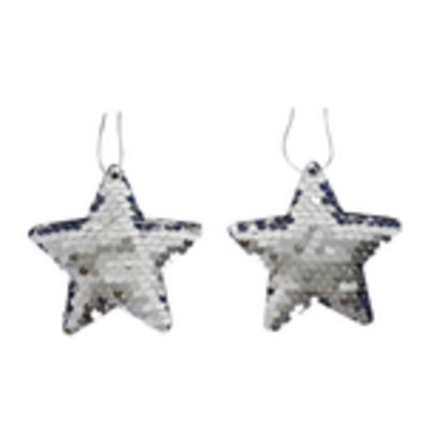 Oferta de Colgantes Decorativos Estrella Plateada por $29.99