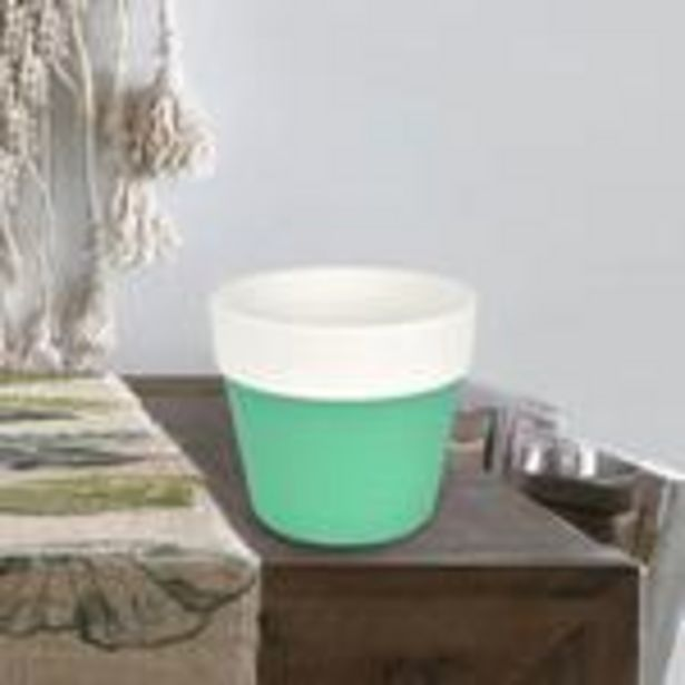 Oferta de Maceta de Cerámica color Aqua por $29.99