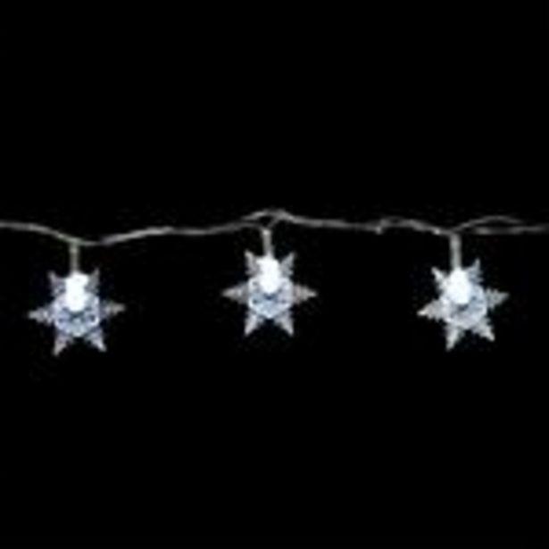 Oferta de Serie de Luces Blancas Copos de Nieve 3m por $69.99