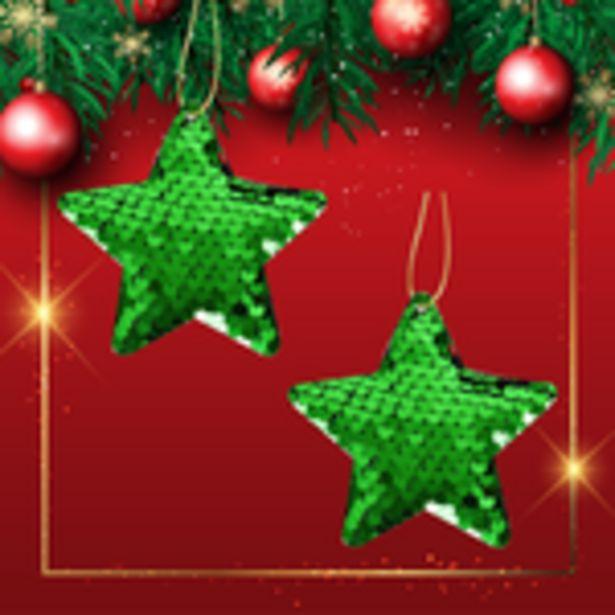 Oferta de Colgantes Decorativos Estrella Verde por $29.99