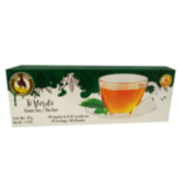 Oferta de Té Verde Emir caja con 40 sobres 40g por $16.99