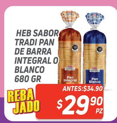 Oferta de Pan de barra HEB 680g por $29.9