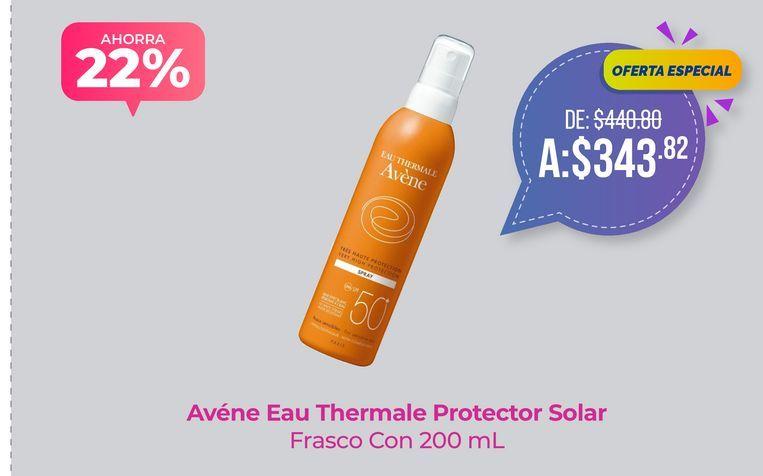Oferta de Avéne Eau Thermale Protector Solar Frasco Con 200 mL por $343.82