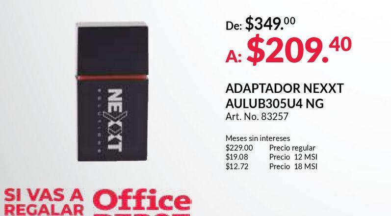 Oferta de ADAPTADOR USB NEXXT LYNX 301 (INALAMBRICO) por $209.4