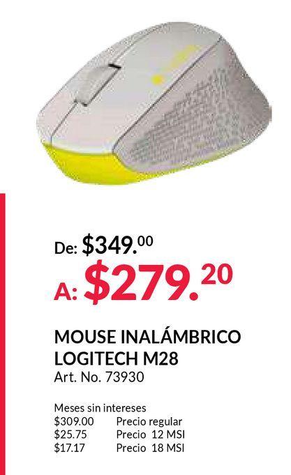 Oferta de Mouse Inalámbrico Logitech M280 / Receptor USB / Gris con verde / PC / Laptop por $279.2