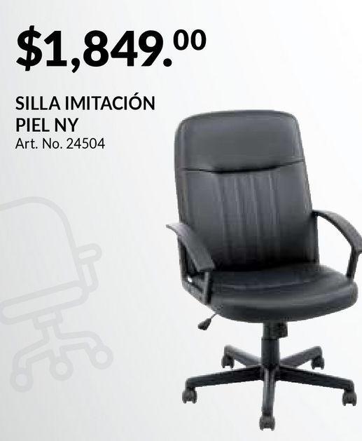 Oferta de Silla Ejecutiva Red Top NY / Polipiel / Negro por $1849