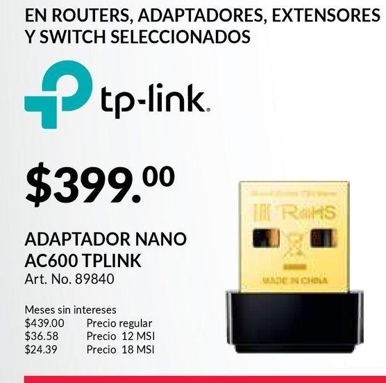 Oferta de Adaptador TP-Link por $399