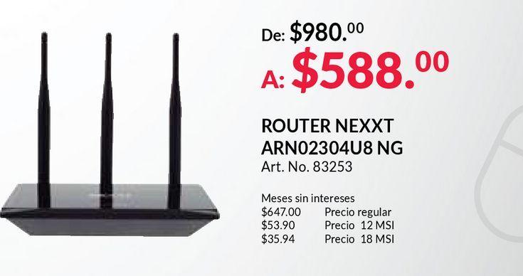 Oferta de Router nexxt por $599