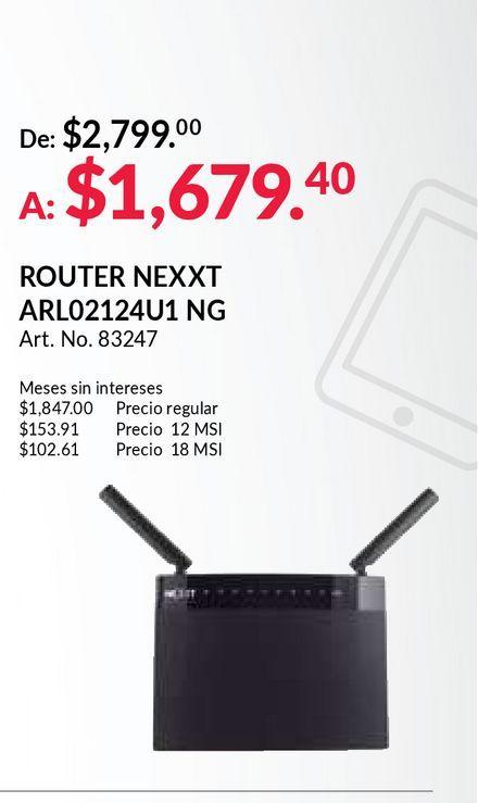 Oferta de Router nexxt por $1679