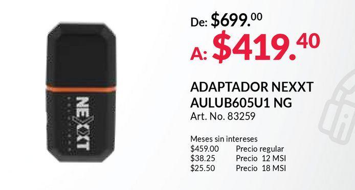 Oferta de Adaptador nexxt por $419