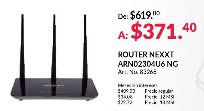 Oferta de Router nexxt por $371
