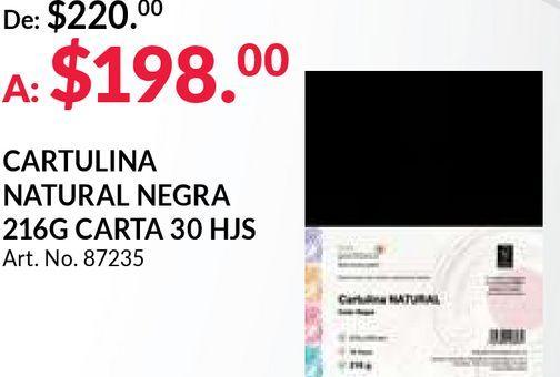 Oferta de Cartulina natural negra por $198