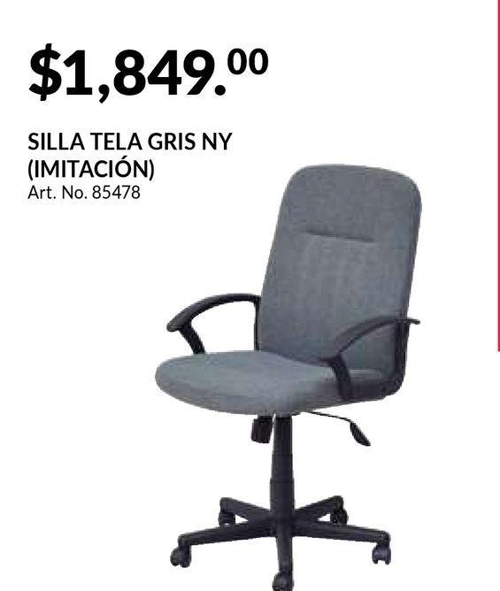 Oferta de Silla de Oficina Office Depot NY / Tela / Gris por $1849