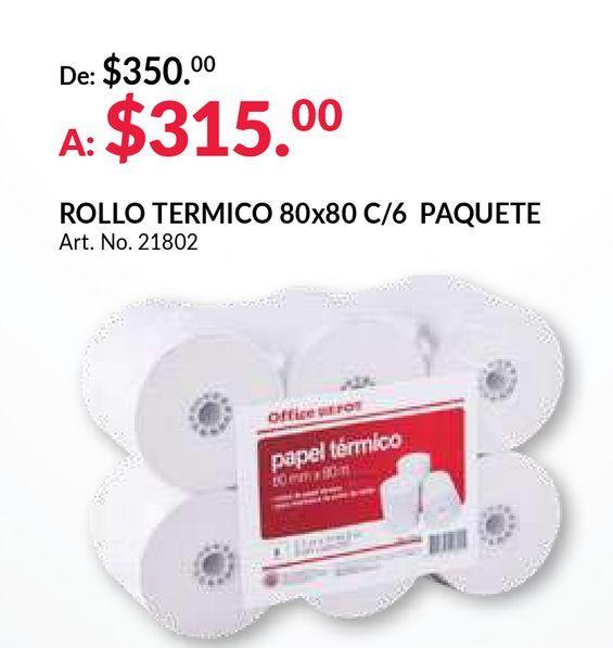 Oferta de Papel térmico Office Depot por $315