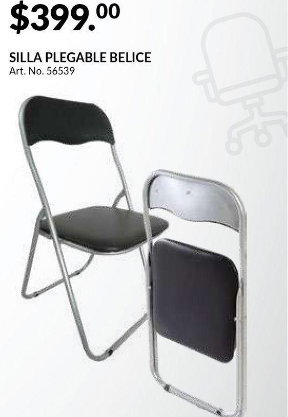 Oferta de Silla Plegable Coscorp Belice / Acero / Negro por $399