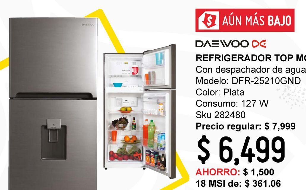 Oferta de Refrigerador Top Mount 9 pies con despachador por $6499