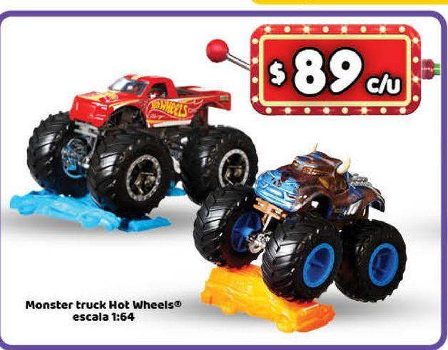 Oferta de Auto de juguete Hot Wheels monster tuck por $89