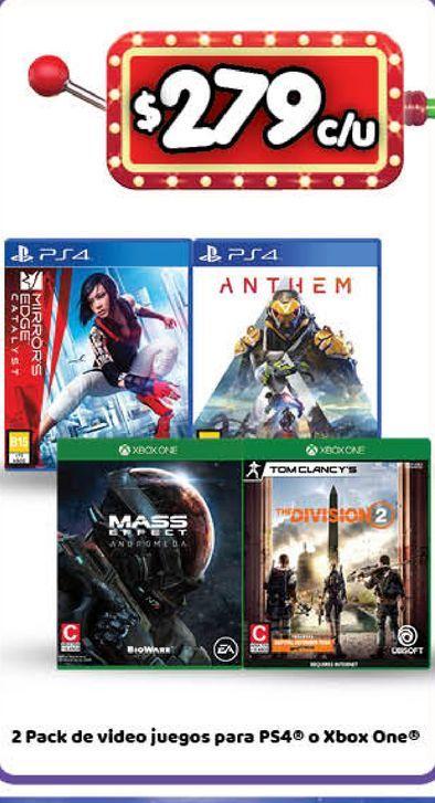 Oferta de Videojuegos PS4 por $279