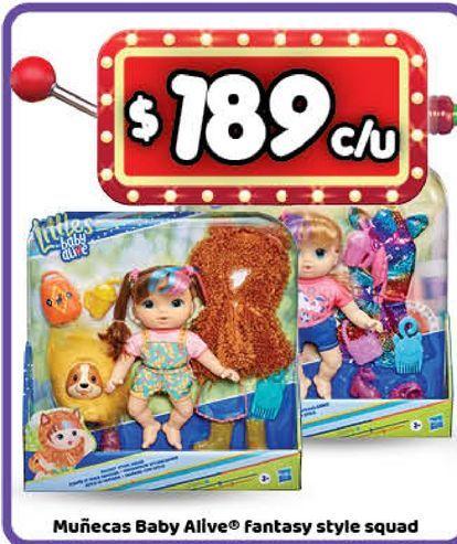 Oferta de Muñecas Baby Alive Fantasy Style squad por $189