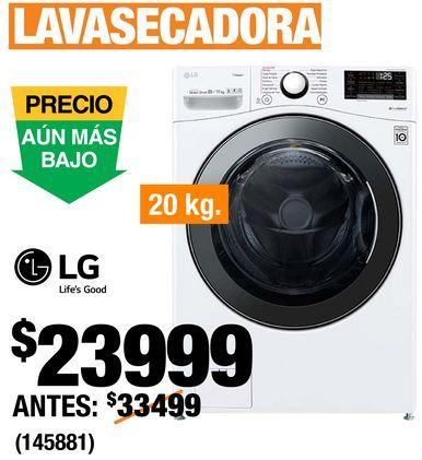 Oferta de Lavasecadora LG por $23999