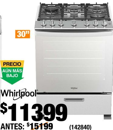 Oferta de Estufa Whirlpool por $11399