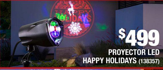 Oferta de Proyector Led Happy Holidays por $499