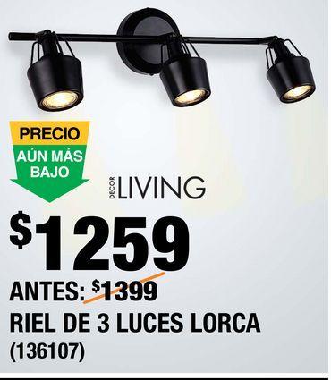 Oferta de Riel de 3 Luces Lorca por $1259