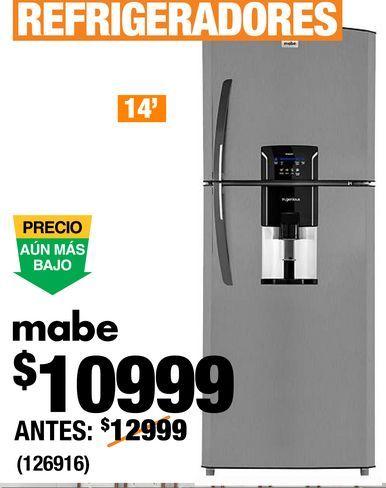 Oferta de Refrigeradores Mabe por $10999