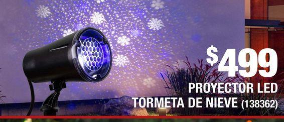 Oferta de Proyector Led Tormenta de Nieve por $499