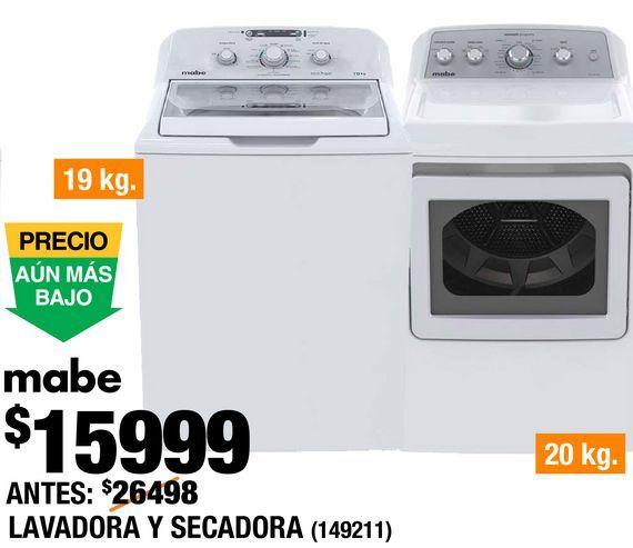 Oferta de Lavadora y Secadora Mabe por $15999