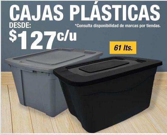Oferta de Caja Plásticas por $127