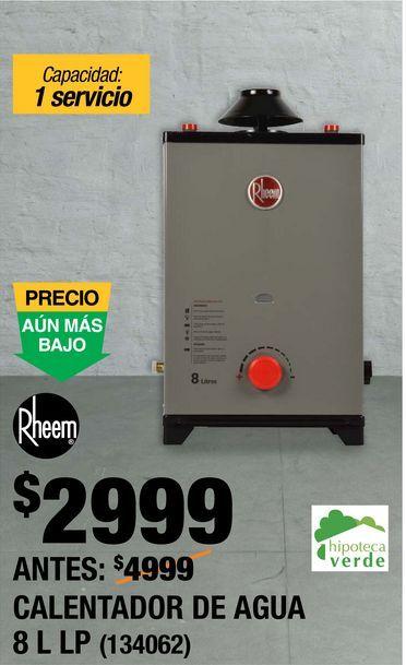 Oferta de Calentador de  Agua Rheem por $2999