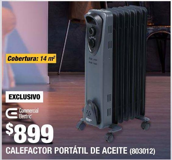 Oferta de Calefactor Portátil de Aceite por $899
