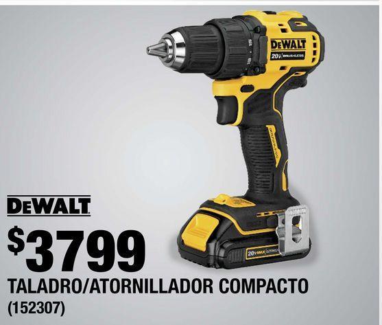 Oferta de Taladro/ Atornillador Compacto Dewalt por $3799