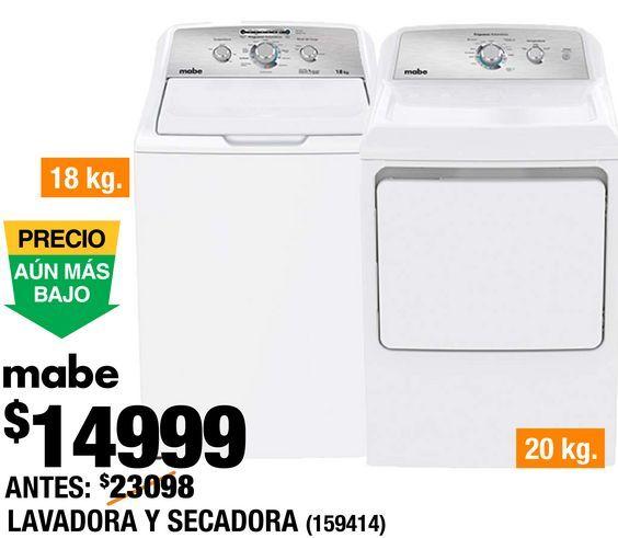 Oferta de Lavadora y Secadora Mabe por $14999