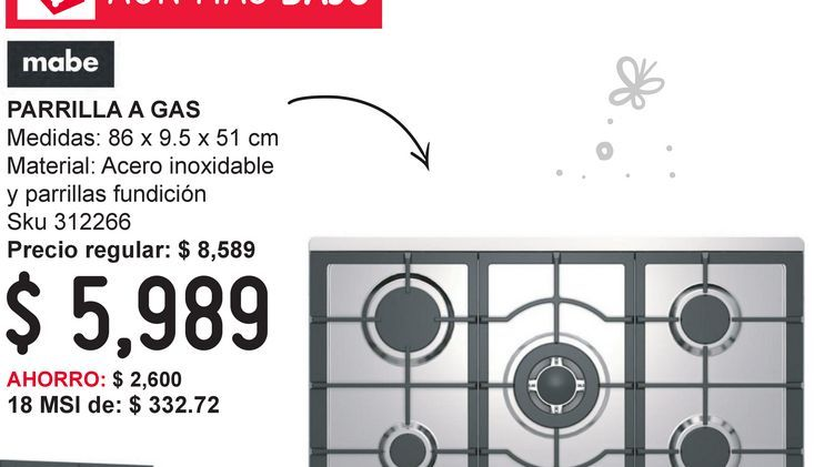 Oferta de Parrilla a Gas de Acero Inoxidable y Parrillas Fudicion por $5989
