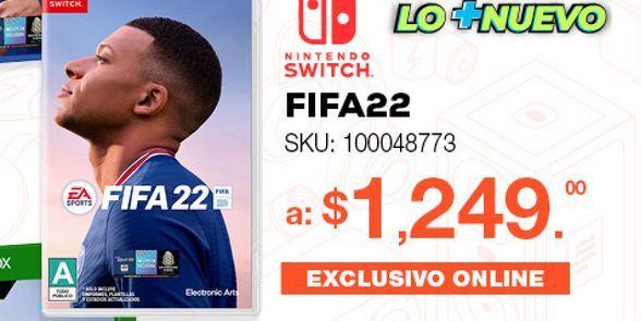 Oferta de FIFA 22 EA Sports Legacy Edition / Juego completo / Nintendo Switch por $1249
