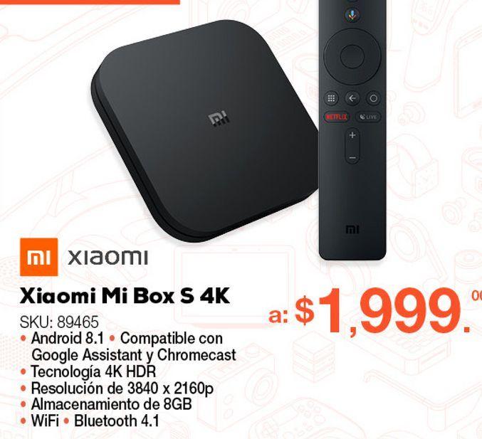 Oferta de Reproductor Xiaomi Mi Box S / Ultra HD 4k / HDMI / Negro por $1999