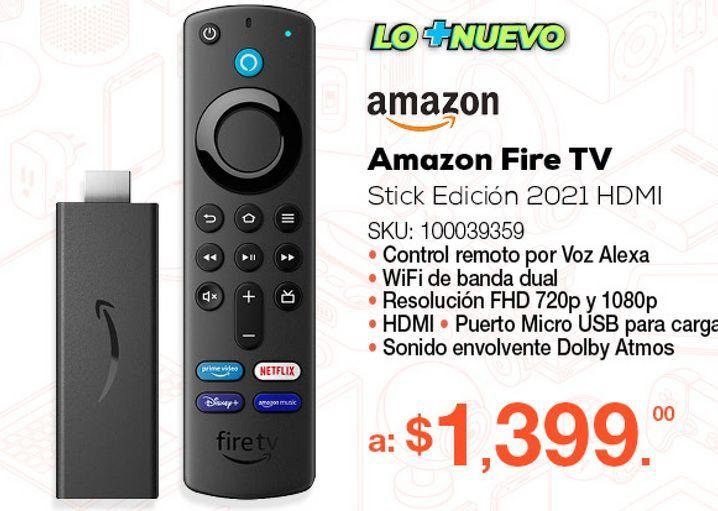 Oferta de Amazon Fire TV Stick Edición 2021 / FHD / HDMI / Negro por $1399
