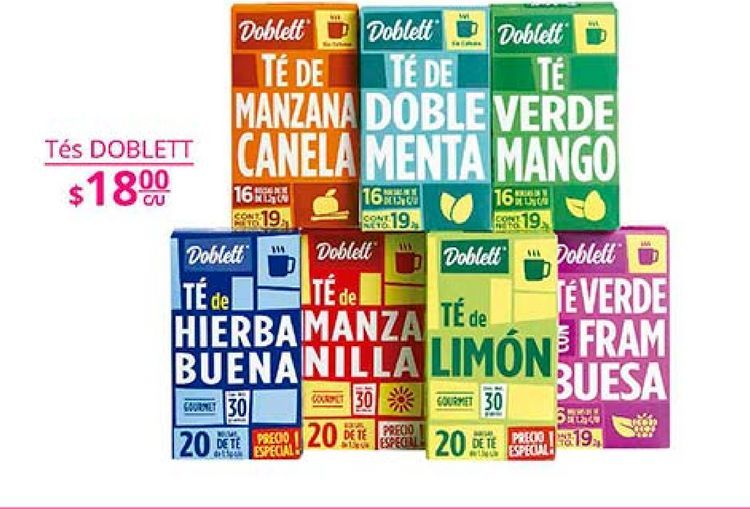 Oferta de Té Doblett por $18