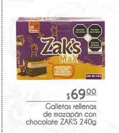 Oferta de Galletas rellenas de manzanas Zak`s por $69