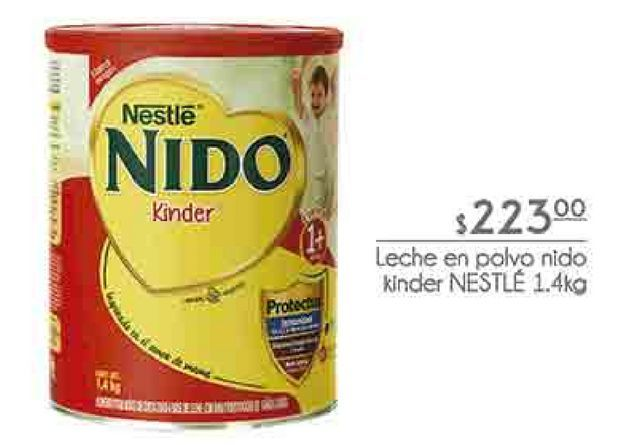 Oferta de Leche en polvo Nido kinder Nestlé por $223