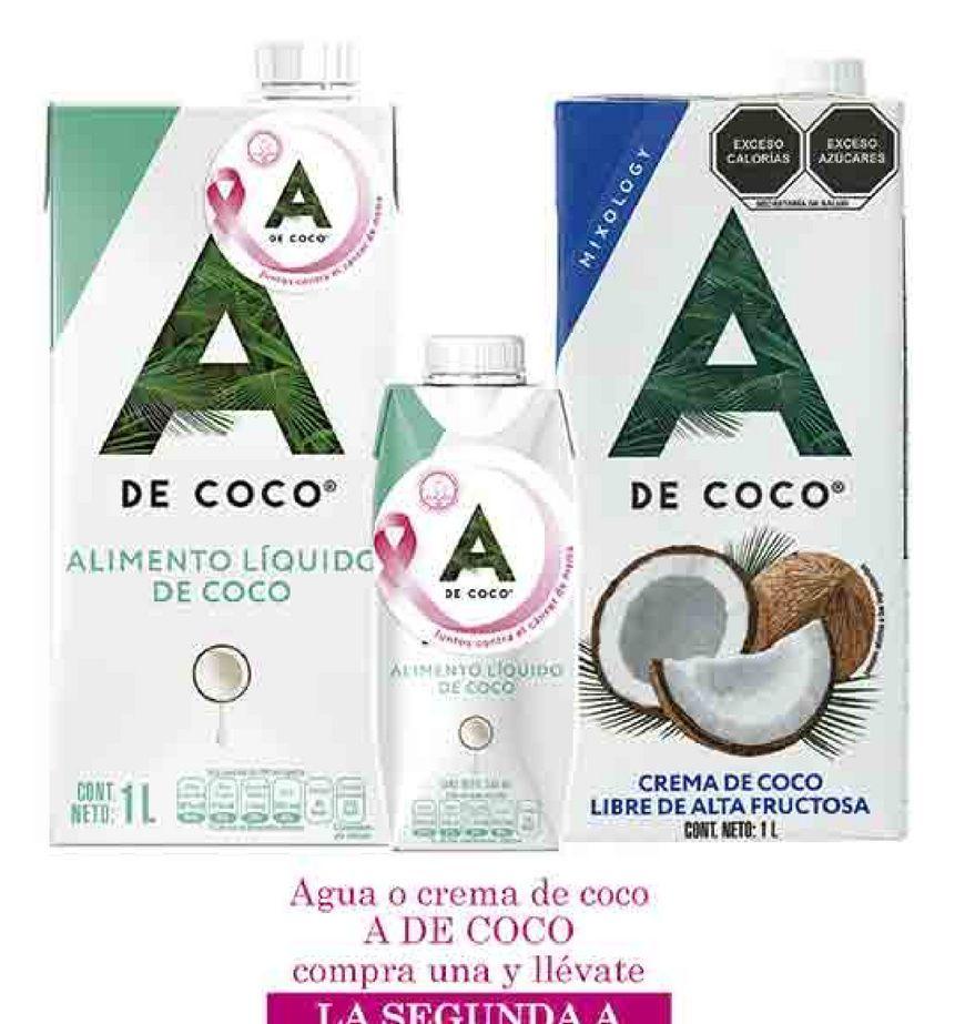 Oferta de Agua o crema de coco A de Coco por
