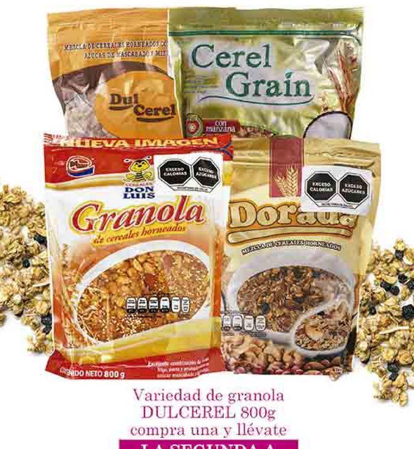 Oferta de Variedad de granola Dulcerel 800g por