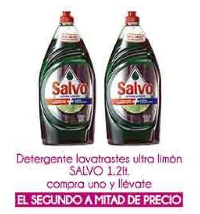 Oferta de Detergente lavatrastes ultra limon Salvo 1.2lt por