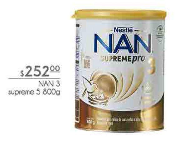 Oferta de NAN 3 supreme 5 800g por $252