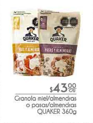 Oferta de Granola Quaker por $43