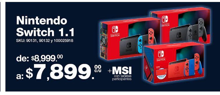 Oferta de Nintendo Switch 1.1  por $7899
