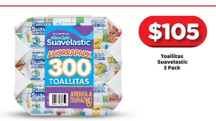 Oferta de Toallitas húmedas para bebé Suavelastic por $105
