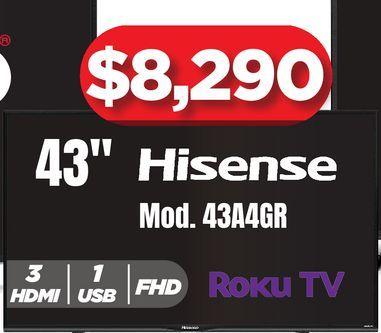"""Oferta de Pantallas Hisense 43"""" por $8290"""